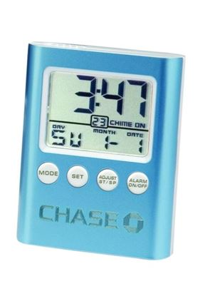 "Picture of ""C-Time"" Blue LCD Travel Alarm Clock"