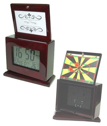 "Picture of ""Darts"" LCD Clock & Photo Frame"