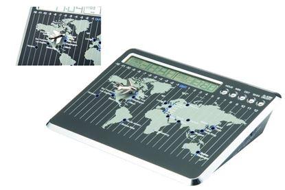 """Picture of """"Map Zone"""" Desk Clock w/Plane"""