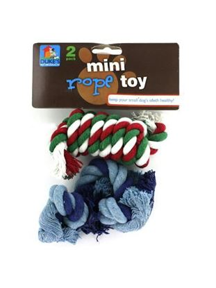 Picture of 2 Pack miniature rope dog toys (assorted colors) (Available in a pack of 18)