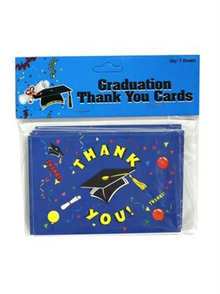 Picture of Graduation thank you notes with envelopes, pack of 12 (Available in a pack of 24)