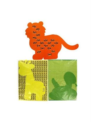 Picture of Weaving safari animal mats, set of 12 (Available in a pack of 24)