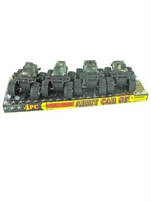 Picture of 4 piece pull back army car (assortment may vary) (Available in a pack of 18)