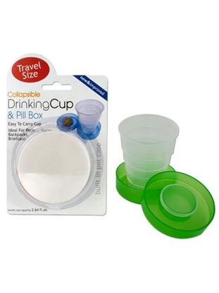 Picture of Collapsible drinking cup and pill box (Available in a pack of 24)