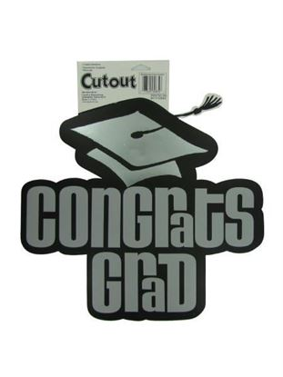 Picture of Congrats Grad cut-out (Available in a pack of 24)
