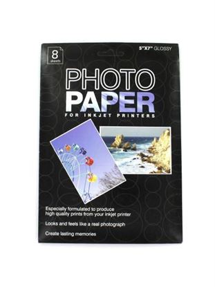 Picture of 5 x 7 photo paper for inkjet printers, package of 8 sheets (Available in a pack of 24)