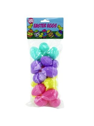 Picture of 18 pack easter eggs assorted colors (Available in a pack of 24)