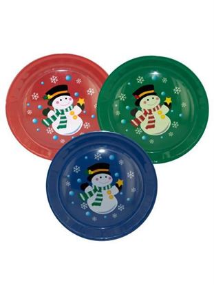 Picture of Round Christmas serving tray (Available in a pack of 12)