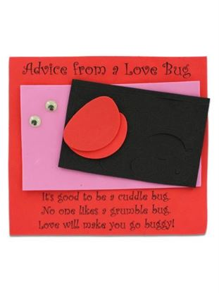 Picture of Advice from a Love Bug craft kit, pack of 12 (Available in a pack of 30)