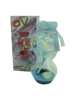 Picture of Vase with sand and shell, scented, assorted (Available in a pack of 24)