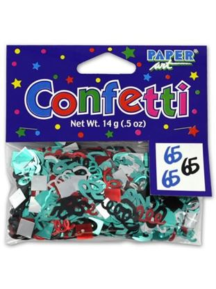 Picture of 65th birthday confetti (Available in a pack of 24)