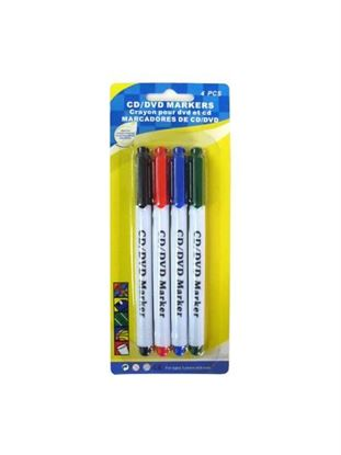 Picture of CD/DVD markers, pack of 4 (Available in a pack of 24)
