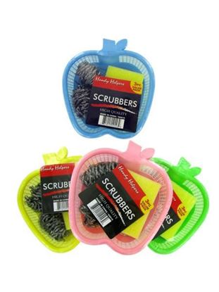 Picture of 3 Piece Scrubbers and Basket (Available in a pack of 24)