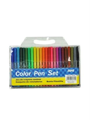 Picture of Marker pen set, pack of 24 (Available in a pack of 6)