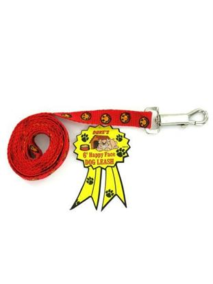 Picture of 6' Happy face dog leash (Available in a pack of 24)