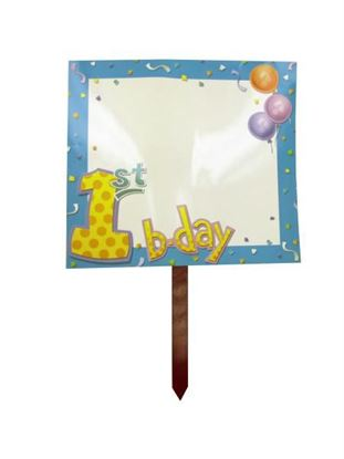 Picture of My 1st Birthday lawn sign (Available in a pack of 36)
