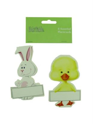 Picture of Bunny and chick place cards, pack of 8 (Available in a pack of 24)