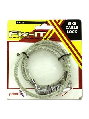 Picture of Bike combination cable lock (Available in a pack of 12)