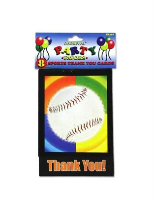 Picture of Sports-themed thank you cards, pack of 8 (Available in a pack of 24)