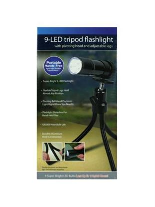 Picture of Tripod flashlight with 9 LEDs (Available in a pack of 4)