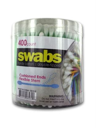 Picture of Double-tipped cotton swabs, pack of 400 (Available in a pack of 24)