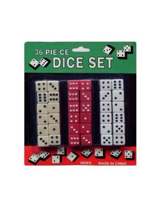 Picture of Dice set, 36 pieces (Available in a pack of 8)