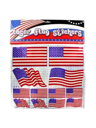 Picture of American flag laser stickers (Available in a pack of 24)