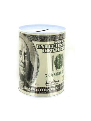Picture of 100 dollar bill tin money bank (Available in a pack of 24)
