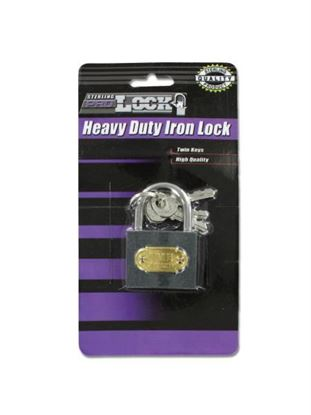 Picture of Heavy duty iron lock with keys (Available in a pack of 24)