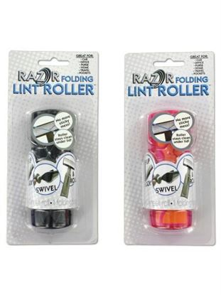 Picture of Folding lint roller, 2 assorted colors (Available in a pack of 24)