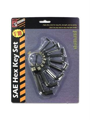 Picture of 10 Piece sae hex key set (Available in a pack of 24)