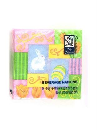 Picture of Easter beverage napkins, festive and fun (Available in a pack of 36)