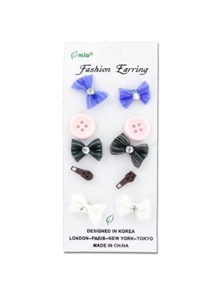 Picture of Fashion earrings, pack of 5 (Available in a pack of 24)