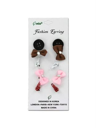 Picture of Bow earrings, pack of 5 pair (Available in a pack of 24)
