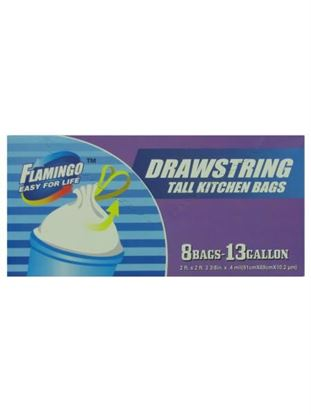 Picture of Drawstring tall kitchen bags, box of 8 (Available in a pack of 24)