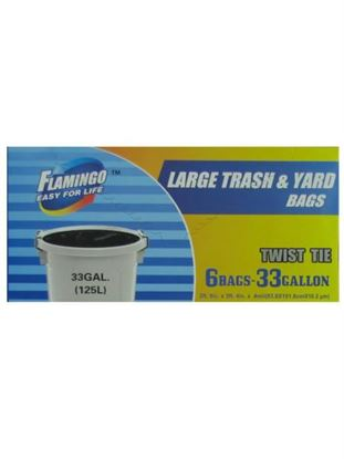 Picture of Large trash and yard bags, 33 gallon (Available in a pack of 24)