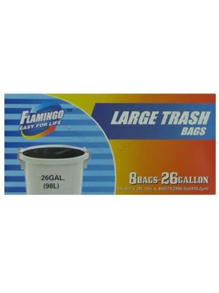 Picture of Large trash bags, 8 ct., 26 gallon (Available in a pack of 24)