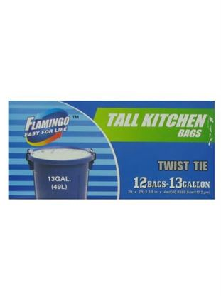 Picture of Tall white kitchen bags, 13 gallon, pack of 12 (Available in a pack of 24)