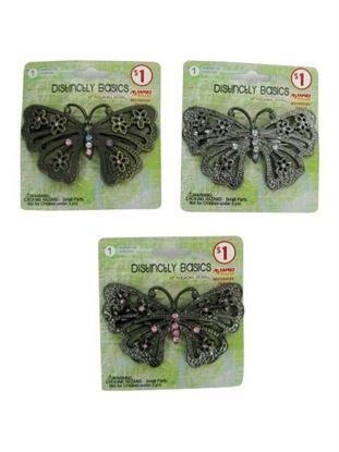 Picture of Butterfly clip with gems (Available in a pack of 24)