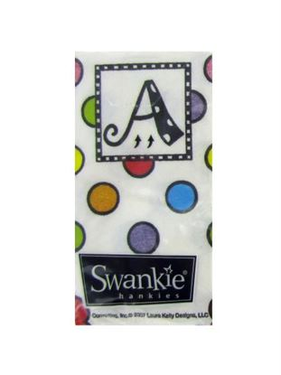 Picture of A monogram tissues, pack of 10 (Available in a pack of 25)