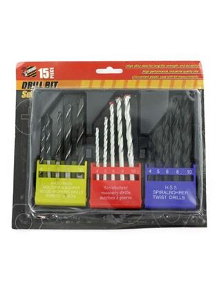 Picture of Set of 15 assorted drill bits (Available in a pack of 8)