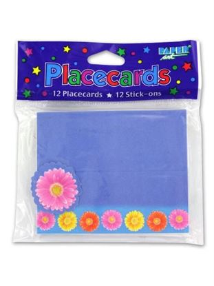 Picture of Gerber Daisy place cards, pack of 12 (Available in a pack of 24)