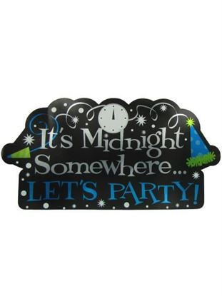 Picture of It's Midnight New Year's cutout (Available in a pack of 24)