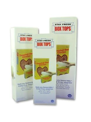 Picture of 3 piece set stay fresh cereal box top covers (Available in a pack of 15)