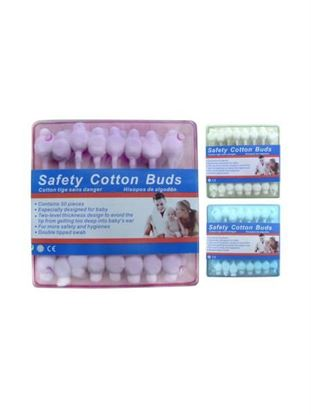 Picture of Cotton buds, assorted colors, pack of 50 (Available in a pack of 24)