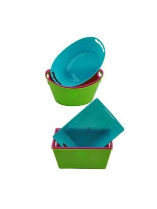 Picture of Mini tubs, 3 pack, assorted colors (Available in a pack of 24)