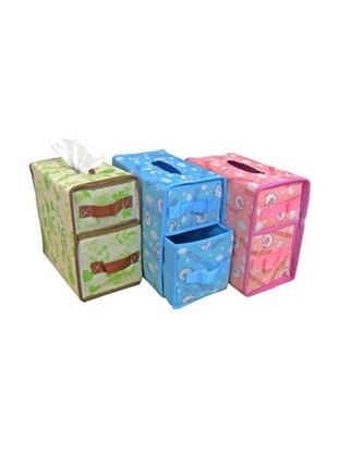 Picture of Multi-functional non-woven storage box with drawers (Available in a pack of 4)