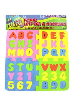 Picture of Foam letter and number puzzle (Available in a pack of 24)