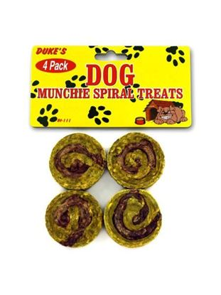 Picture of 4 Pack spiral dog treats (Available in a pack of 24)