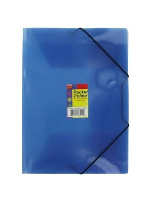 Picture of Plastic pocket folder wallet, assorted colors (Available in a pack of 24)